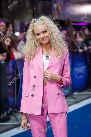 British DJ and presenter Becca Dudley attends the UK premiere of 'Onward' at Curzon Mayfair in London, Britain, 23 February 2020. The film will be release in British Cinemas on 06 March.