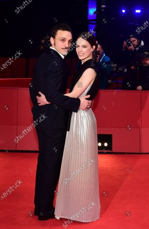 Franz Rogowski (L) and Paula Beer arrive for the premiere of 'Undine' during the 70th annual Berlin International Film Festival (Berlinale), in Berlin, Germany, 23 February 2020. The movie is presented in the Official Competition at the Berlinale that runs from 20 February to 01 March 2020.