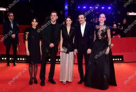 Maryam Zaree, director Christian Petzold, Paula Beer, Franz Rogowski, and Anne Ratte-Polle arrive for the premiere of 'Undine' during the 70th annual Berlin International Film Festival (Berlinale), in Berlin, Germany, 23 February 2020. The movie is presented in the Official Competition at the Berlinale that runs from 20 February to 01 March 2020.