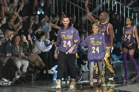 Stock Picture of Philipp Plein and Jada Pinkett Smith on the catwalk
