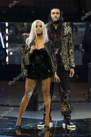 LianeV and Don Benjamin on the catwalk