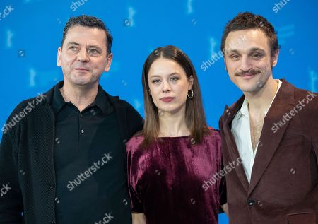 Stock Picture of Christian Petzold, Paula Beer and Franz Rogowski