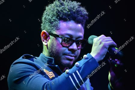 Stock Picture of Kalimba performs on stage as part of his album launch 'Somos Muchos y Venimos Todos'