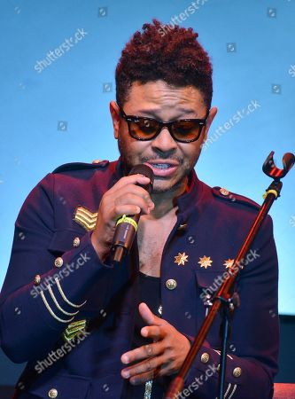 Stock Image of Kalimba performs on stage as part of his album launch 'Somos Muchos y Venimos Todos'