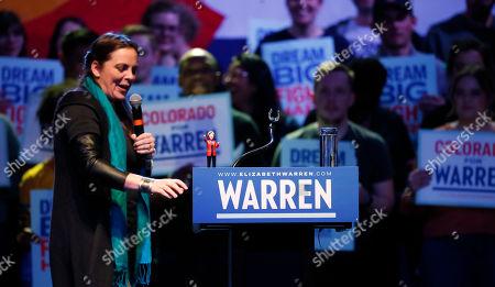 Editorial photo of Election 2020 Elizabeth Warren, Denver, USA - 23 Feb 2020