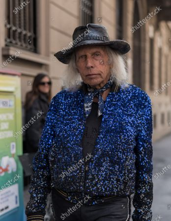 Editorial image of Street Style, Fall Winter 2020, Milan Fashion Week, Italy - 22 Feb 2020