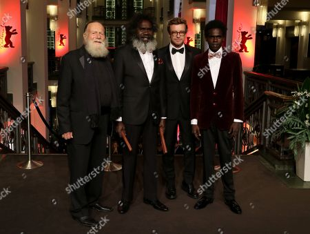 Jack Thompson, Witiyana Marika, Simon Baker and Jacob Junior Nayinggul