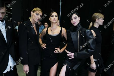 Editorial picture of Versace show, Backstage, Fall Winter 2020, Milan Fashion Week, Italy - 21 Feb 2020