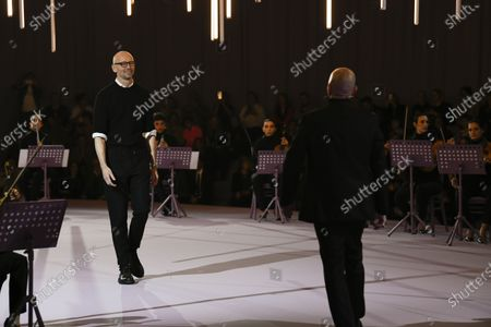 Ingo Wilts and Mark Langer on the catwalk