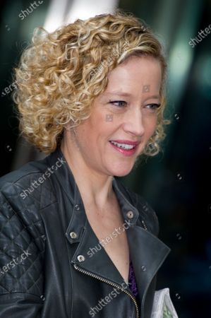 Cathy Newman at the BBC Studios