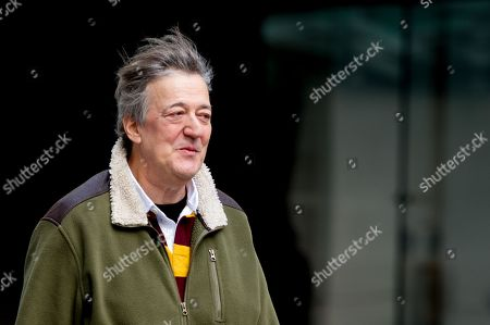 Stock Photo of Stephen Fry at the BBC Studios