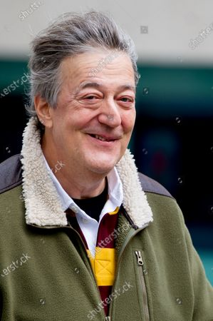 Stock Image of Stephen Fry at the BBC Studios