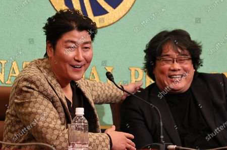 Editorial picture of 'Parasite' film press conference, Japan National Press Club, Tokyo - 23 Feb 2020