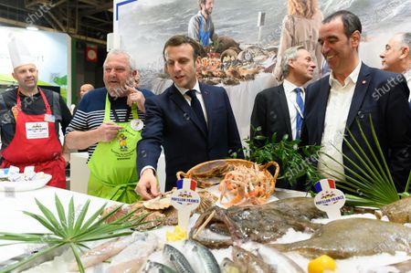 Emmanuel Macron, Jacques Woci and Eric Bothorel