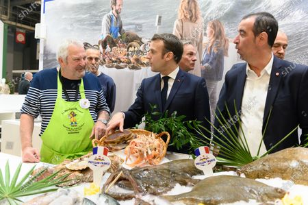 Emmanuel Macron Jacques Woci, and Eric Bothorel