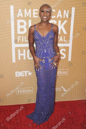 Cynthia Erivo attends the American Black Film Festival Honors Awards at the Beverly Hilton Hotel, in Beverly Hills, Calif