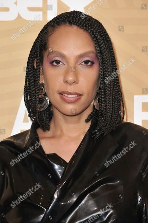 Melina Matsoukas attends the American Black Film Festival Honors Awards at the Beverly Hilton Hotel, in Beverly Hills, Calif