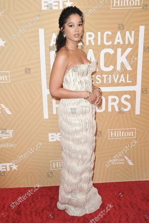 Alisha Wainwright attends the American Black Film Festival Honors Awards at the Beverly Hilton Hotel, in Beverly Hills, Calif