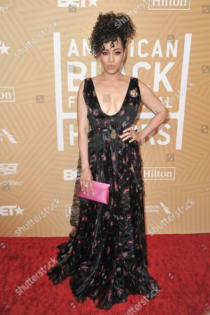 Stock Image of Dawn-Lyen Gardner attends the American Black Film Festival Honors Awards at the Beverly Hilton Hotel, in Beverly Hills, Calif