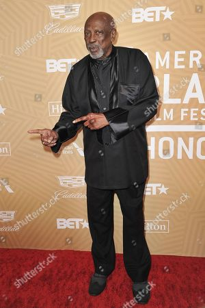 Stock Image of Lou Gossett Jr Jr. attends the American Black Film Festival Honors Awards at the Beverly Hilton Hotel, in Beverly Hills, Calif