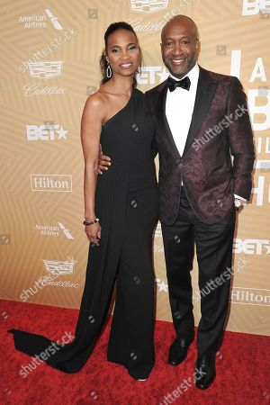 Nicole Friday, Jeff Friday. Nicole Friday, left, and Jeff Friday attend the American Black Film Festival Honors Awards at the Beverly Hilton Hotel, in Beverly Hills, Calif