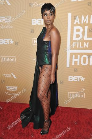 Nafessa Williams attends the American Black Film Festival Honors Awards at the Beverly Hilton Hotel, in Beverly Hills, Calif