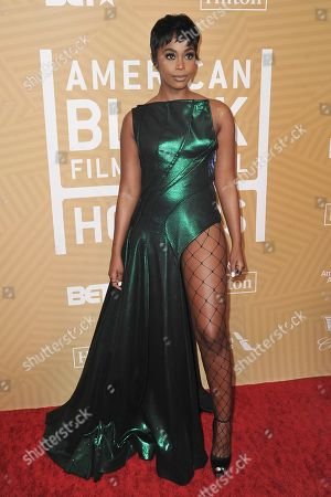 Stock Picture of Nafessa Williams attends the American Black Film Festival Honors Awards at the Beverly Hilton Hotel, in Beverly Hills, Calif