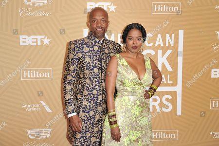Stock Picture of Tariq Walker, Malinda Williams. Tariq Walker, left, and Malinda Williams attend the American Black Film Festival Honors Awards at the Beverly Hilton Hotel, in Beverly Hills, Calif