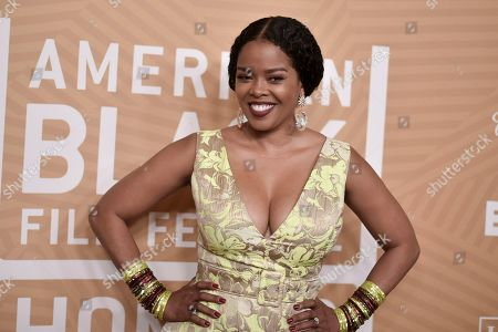 Malinda Williams attends the American Black Film Festival Honors Awards at the Beverly Hilton Hotel, in Beverly Hills, Calif