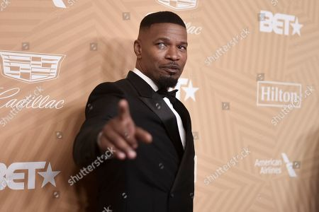 Jamie Foxx attends the American Black Film Festival Honors Awards at the Beverly Hilton Hotel, in Beverly Hills, Calif