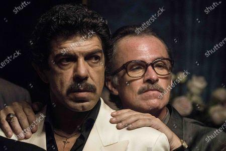 Pierfrancesco Favino as Tommaso Buscetta and Fabrizio Ferracane as Pippo Calo