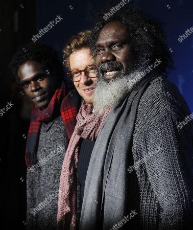 Witiyana Marika, Simon Baker and Jacob Junior Nayinggul