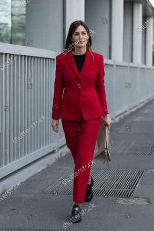Editorial photo of Street Style, Fall Winter 2020, Milan Fashion Week, Italy - 23 Feb 2020