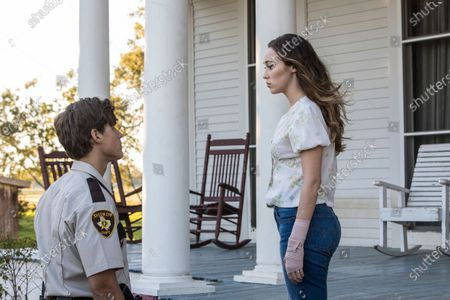 Brenton Thwaites as Norman Young and Alycia Debnam Carey as Frances Campbell