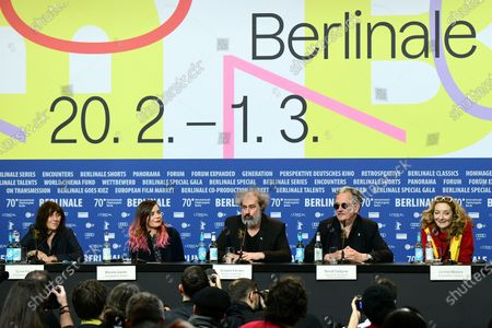Sylvie Pialat, Blanche Gardin, Gustave Kervern, Benoit Delepine and Corinne Masiero attend the 'Effacer l'historique' (Delete History) press conference during the 70th annual Berlin International Film Festival (Berlinale), in Berlin, Germany, 24 February 2020. The movie is presented in the Official Competition at the Berlinale that runs from 20 February to 01 March 2020.