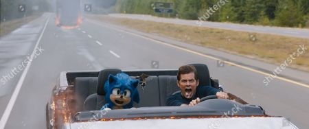 Sonic (Ben Schwartz) and James Marsden as Tom Wachowski