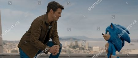James Marsden as Tom Wachowski and Sonic (Ben Schwartz)