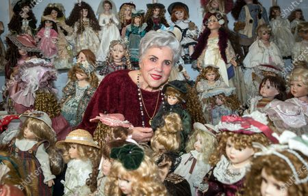 Editorial picture of Spanish doll collector looks forward to show The Doll Orphanage, Logrono, Spain - 24 Feb 2020