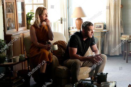 Claudie Blakley as Helen and Russell Tovey as Jake.