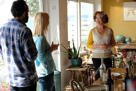 Keir Charles as George, Claudie Blakley as Helen and Francesca Annis as Vivien.