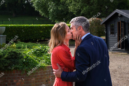 Stock Picture of Stephanie Langton as Carla and Vincent Regan as Tony.