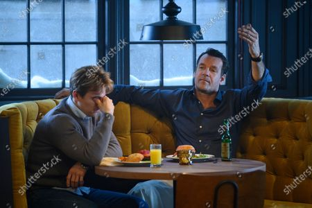 Stock Image of Evan Roderick as Justin Davis and David James Elliott as James Davis
