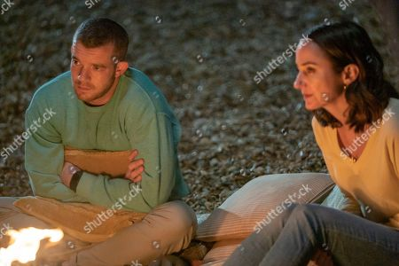 Stock Picture of Russell Tovey as Jake and Lydia Leonard as Natalie.