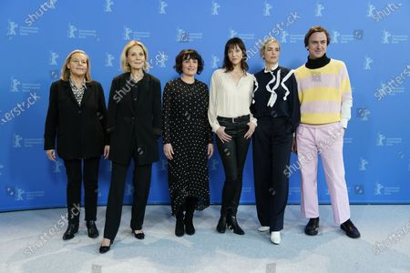 Ruth Waldburger, Marthe Keller, Stephanie Chuat, Veronique Reymond, Nina Hoss and Lars Eidinger pose during the 'Schwesterlein' (My Little Sister) photocall during the 70th annual Berlin International Film Festival (Berlinale), in Berlin, Germany, 24 February 2020. The movie is presented in the Official Competition at the Berlinale that runs from 20 February to 01 March 2020.