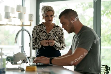 Sharon Small as Stella and Russell Tovey as Jake.