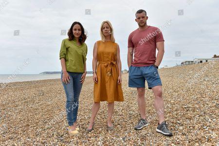 Lydia Leonard as Natalie, Claudie Blakley as Helen and Russell Tovey as Jake.
