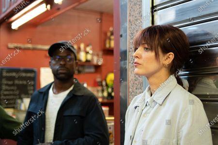 Sterling K. Brown as Mark Serra and Blake Lively as Stephanie Patrick