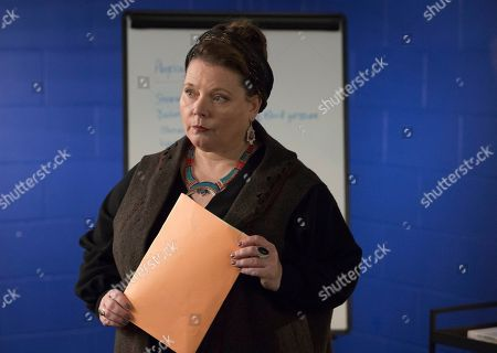 Stock Picture of Joanna Scanlan as Kelly Mulcreevy.