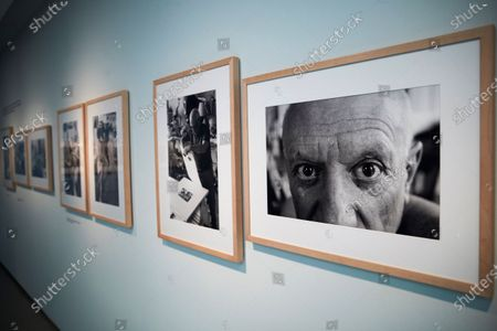 Photographs are on display at the exhibition 'Picasso by Duncan. The knowing look' of 62 pictures taken by US photographer David Douglas Duncan between 1956 and 1962 that shows the private life and work progress of the Spanish painter. The exhibition runs from 22 February to 31 May 2020.