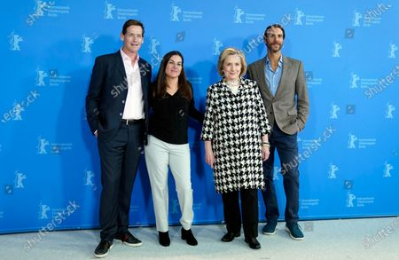 Stock Image of Hillary Rodham Clinton (2-R) and US director Nanette Burstein (2-L) pose with producers Ben Silverman (R) and Howard T. Owens (L) during the 'Hillary' photocall during the 70th annual Berlin International Film Festival (Berlinale), in Berlin, Germany, 25 February 2020. The movie is presented in the Berlinale Special section at the Berlinale that runs from 20 February to 01 March 2020.